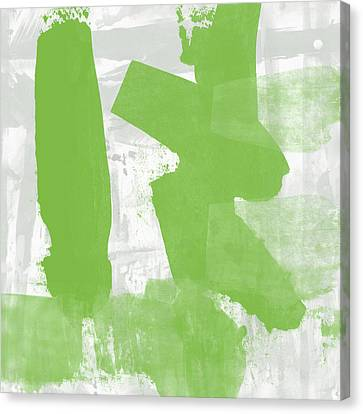 Midori- Abstract Art By Linda Woods Canvas Print by Linda Woods