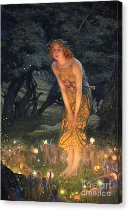 Mushroom Canvas Print - Midsummer Eve by Edward Robert Hughes