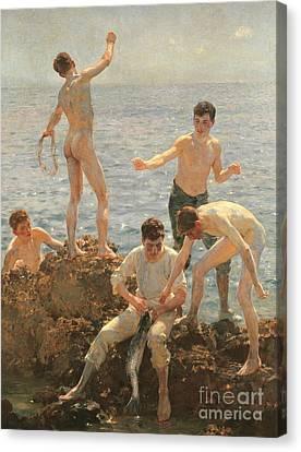 Tuke Canvas Print - Midsummer Morning, 1908 by Henry Scott Tuke