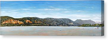 Midsummer On The Hudson Canvas Print by Douglas Keil