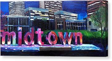 Midtown Glow Canvas Print by Lauren Luna