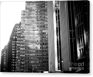 Canvas Print featuring the photograph Midtown Light by John Rizzuto