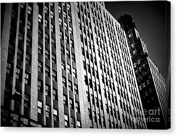 Canvas Print featuring the photograph Midtown Noir by John Rizzuto