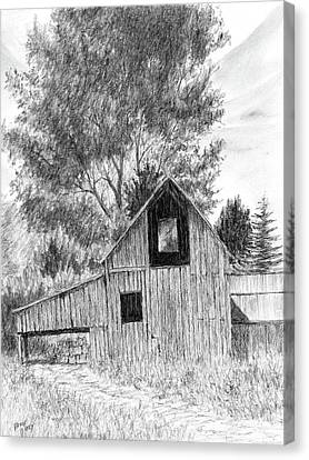 Midway Barn Canvas Print by David King