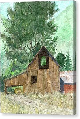 Midway Barn Dop Canvas Print