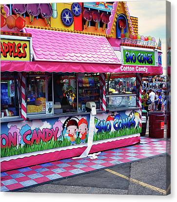 Canvas Print featuring the photograph Midway Junk Food by Trever Miller