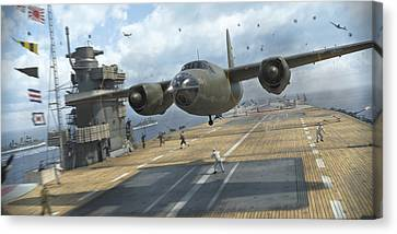 Midway Marauder Canvas Print by Robert Perry