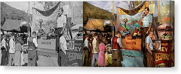 Midway - Racing Monkeys 1941 - Side By Side Canvas Print by Mike Savad