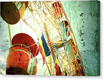 Midway Spin Canvas Print by Toni Hopper