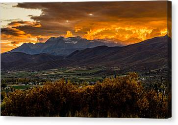 Midway Utah Sunset Canvas Print