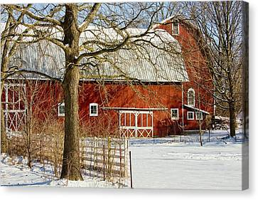 Midwest Barn Canvas Print by Pat Cook