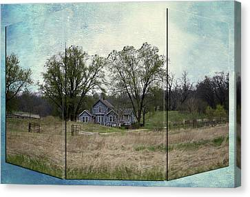 Midwest Country Living Triptych 3 Panel 03 Canvas Print by Thomas Woolworth