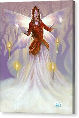 Canvas Print featuring the painting Midwinter Blessings by Amyla Silverflame