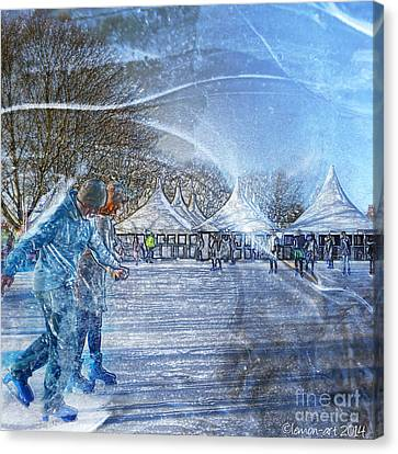 Canvas Print featuring the photograph Midwinter Blues by LemonArt Photography