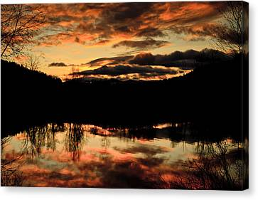 Midwinter Sunrise Canvas Print by Albert Seger