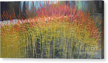 Midwinter's Fire Canvas Print by Melody Cleary