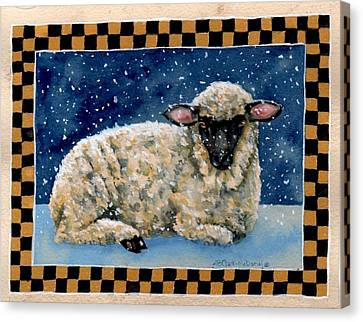 Midwinter's Sheep Canvas Print by Beth Clark-McDonal