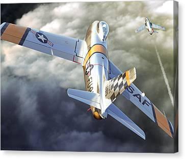 Aviationart Canvas Print - Mig Alley by Gino Marcomini