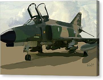 Canvas Print featuring the digital art Mig Killer by Walter Chamberlain