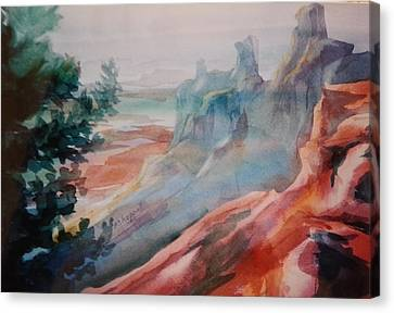 Mighty Canyon Canvas Print by Becky Chappell