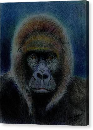 Mighty Gorilla Canvas Print by Arline Wagner