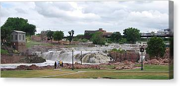 Mighty Sioux Falls Canvas Print by Judy Hall-Folde