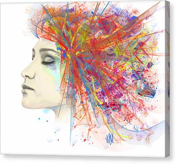 Migraine Canvas Print by Angela A Stanton