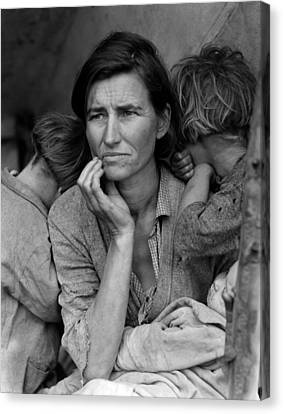 Migrant Mother, Portrait Of Florence Canvas Print by Everett