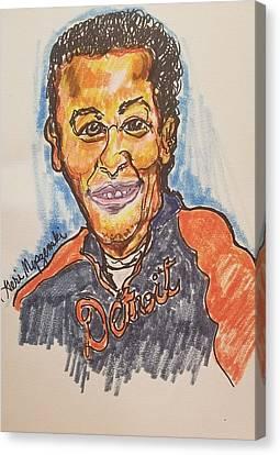 Miguel Cabrera Canvas Print by Geraldine Myszenski