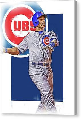 Mlb Canvas Print - Miguel Montero Chicago Cubs Oil Art by Joe Hamilton