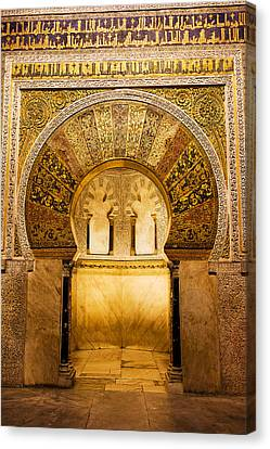 Sacred Artwork Canvas Print - Mihrab In The Great Mosque Of Cordoba by Artur Bogacki
