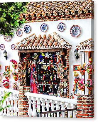 Mijas  Canvas Print by Clare Bevan