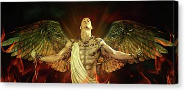 Mike Angel  Canvas Print by Mark Ashkenazi