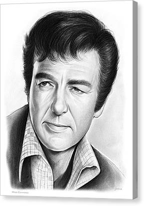 Mike Connors Canvas Print by Greg Joens