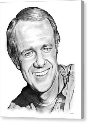 Mike Farrell Canvas Print by Greg Joens
