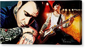 Mike Ness 'nuff Said Canvas Print by Al  Molina