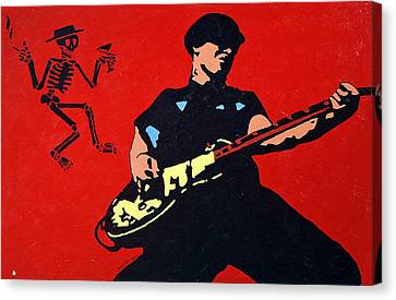 Mike Ness Canvas Print by Steven Sloan
