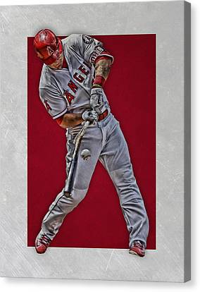 Mike Trout Los Angeles Angels Art 2 Canvas Print by Joe Hamilton