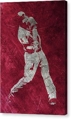 Baseball Fields Canvas Print - Mike Trout Los Angeles Angels Art by Joe Hamilton
