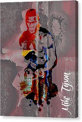 Boxer Canvas Print - Mike Tyson Collection by Marvin Blaine