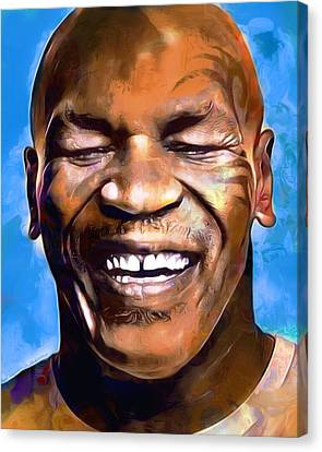 Mike Tyson Painting  Canvas Print by Scott Wallace