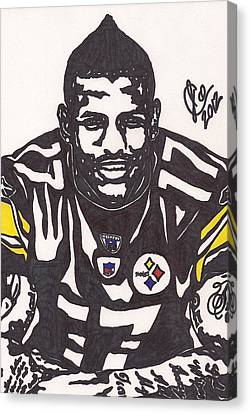 Steelers Canvas Print - Mike Wallace 1 by Jeremiah Colley