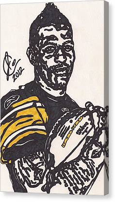 Steelers Canvas Print - Mike Wallace 4 by Jeremiah Colley