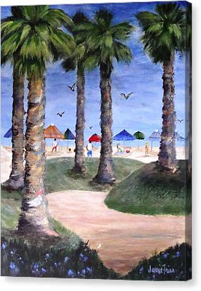 Mike's Hermosa Beach Canvas Print by Jamie Frier