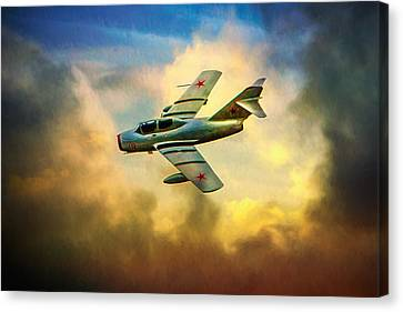 Canvas Print featuring the photograph Mikoyan-gurevich Mig-15uti by Chris Lord