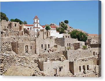 Mikro Horio Village On Tilos Canvas Print