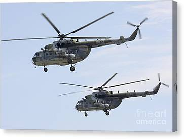 Mil Mi-17 Helicopters Of The Czech Air Canvas Print