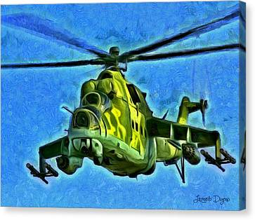Mil Mi 25 - Da Canvas Print by Leonardo Digenio
