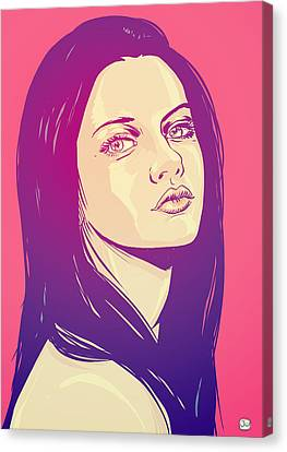 Mila Kunis Canvas Print by Giuseppe Cristiano