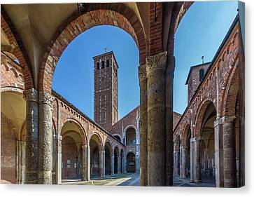 Milan Basilica Sant'ambrogio Canvas Print by Melanie Viola